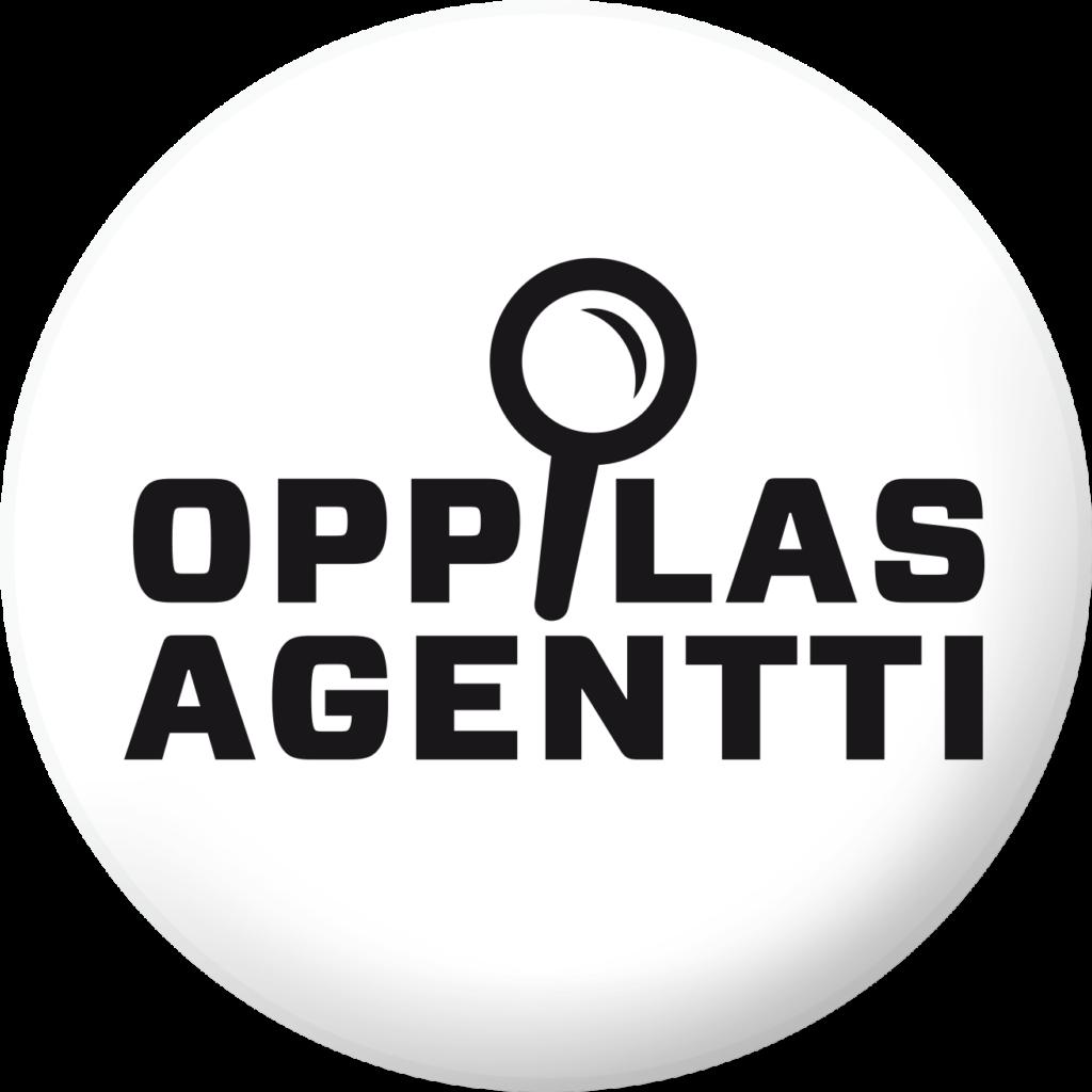 Pyöreä logo, jossa teksti OppilasAgentti